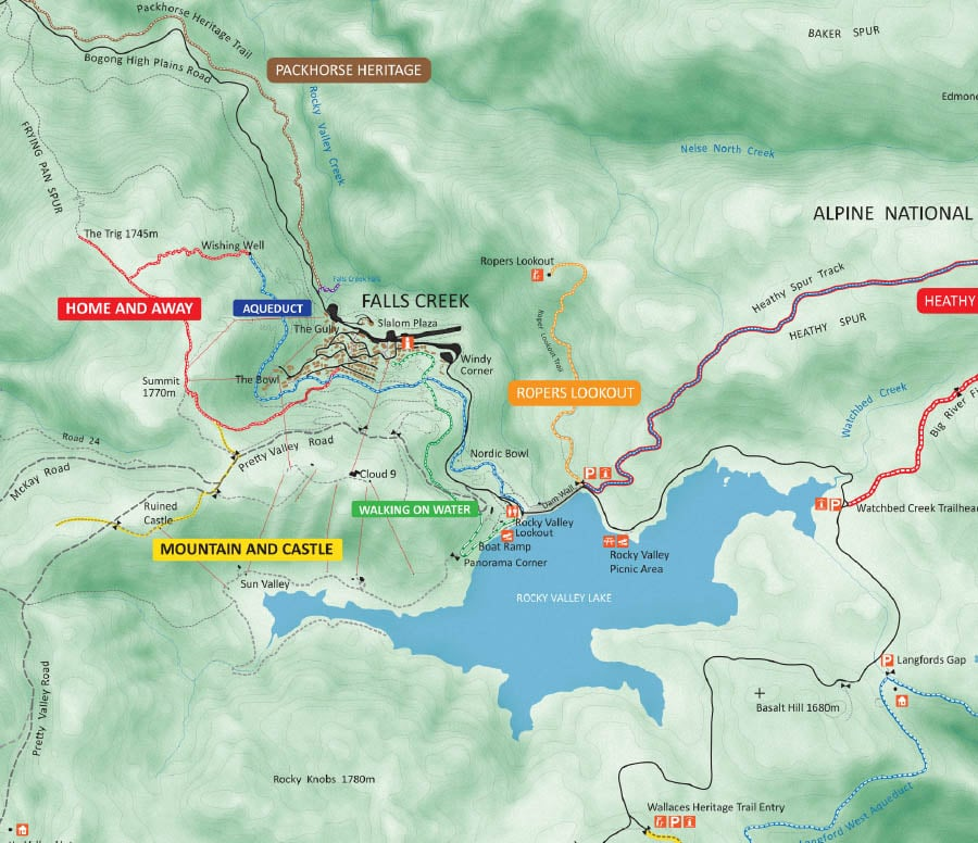 Summer Hiking Trail Map (PDF)